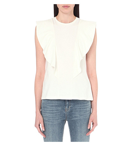 EDIT Flute cotton-jersey t-shirt (White