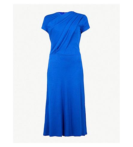 FINERY LONDON Pentonville stretch-jersey midi dress (Bright+blue