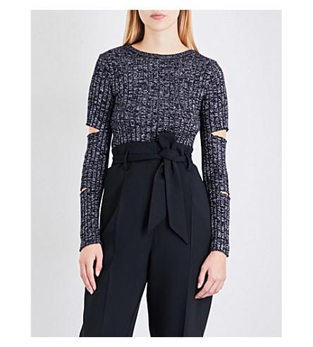 FINERY LONDON Helmsley metallic-knit jumper (Silver