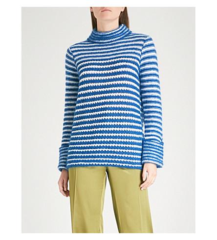 FINERY LONDON Marble striped wool-blend jumper (Blue