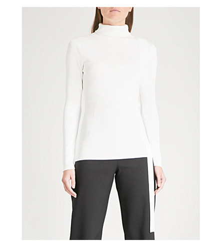 FINERY LONDON Eastbrook turtleneck knitted top (Ivory
