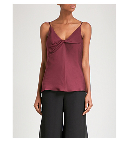 FINERY LONDON Cyprus crepe camisole (Bordeaux