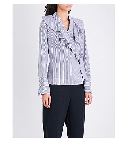 FINERY LONDON Mayland ruffled poplin blouse (Stripe