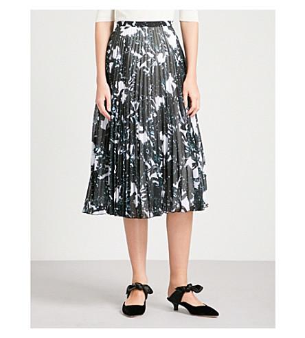 FINERY LONDON Hobman abstract-print pleated chiffon skirt (Multi