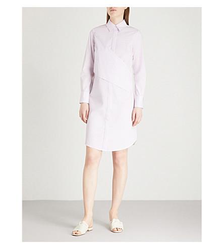 FINERY LONDON Redan cotton shirt dress (Ivory+pink