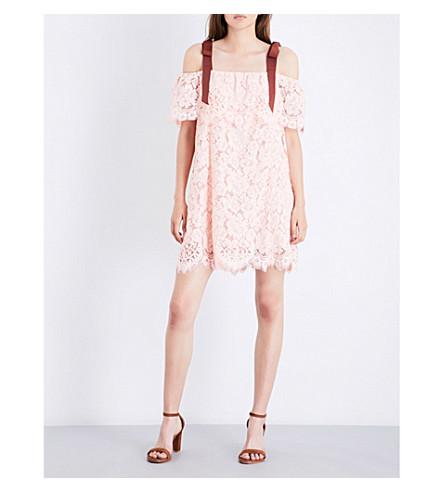 GANNI Duval lace dress (Cloud+pink