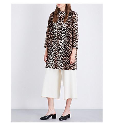 GANNI Fabre cotton coat (Leopard