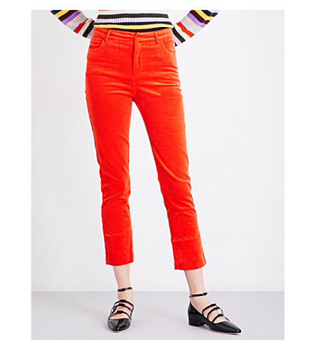 GANNI Ridgewood corduroy trousers (Big+apple+red