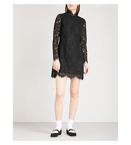 GANNI Jerome lace dress (Black