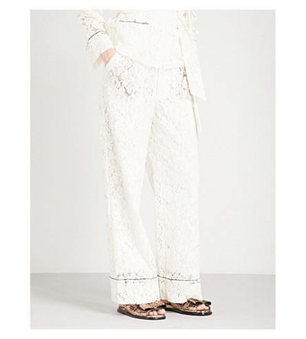 GANNI Jerome wide lace trousers (Egret