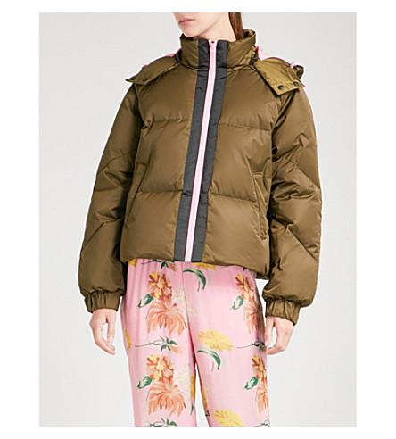 GANNI Vandalia shell-down puffer jacket (Army