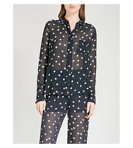GANNI Marceau chiffon shirt (Total+eclipse
