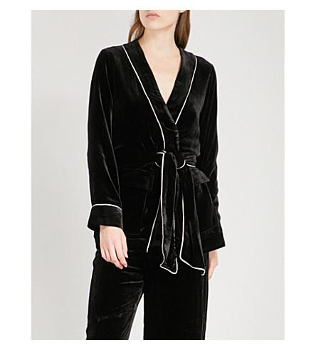 GANNI Rodier velvet jacket (Black
