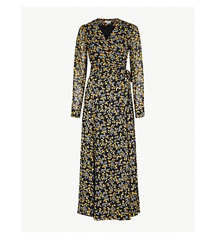GANNI Marceau georgette maxi dress (Black