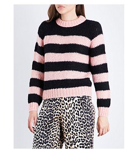 GANNI Faucher wool and mohair-blend jumper (Cloud+pink