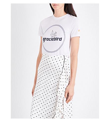 GANNI Perrin jersey T-shirt (Bright+white