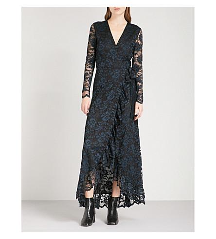 GANNI Maxi Flynn lace maxi dress (Black