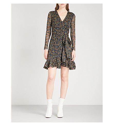 GANNI Tilden mesh dress (Black
