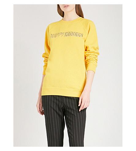 GANNI Happy Endings cotton-jersey sweatshirt (Lemon