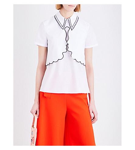 VIVETTA Stenella cotton-poplin shirt (White