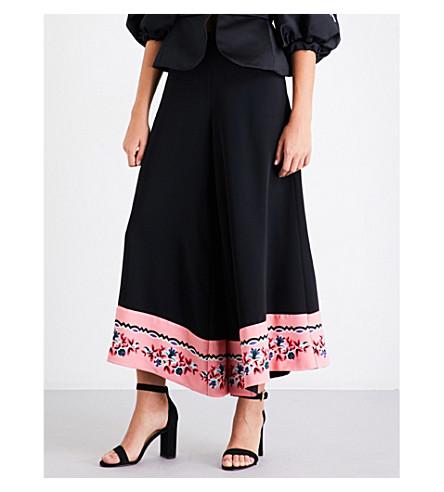 VIVETTA Horsen high-rise wide-leg crepe trousers (Black