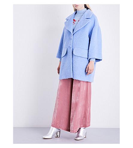 VIVETTA Sore oversized wool-blend coat (Blue