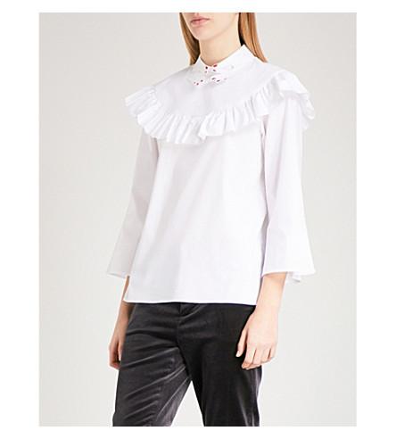 VIVETTA Tione ruffled cotton blouse (White