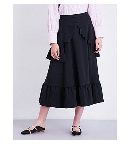 VIVETTA Zurigo high-rise crepe skirt (Black
