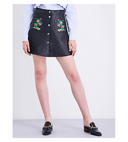VIVETTA Kigali leather skirt (Black