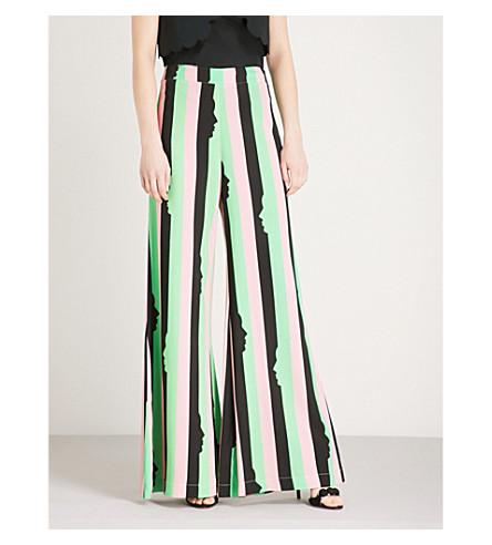 VIVETTA Skadi striped wide-leg crepe trousers (Multi+black