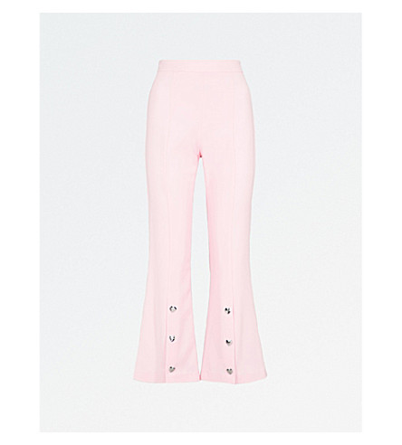 VIVETTA Becco crepe cropped trousers (Pink