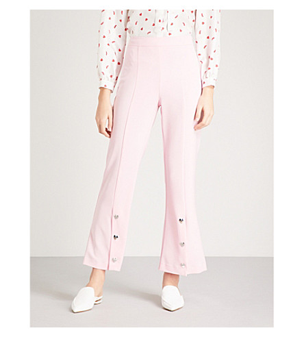 VIVETTA Becco crepe cropped pants (Pink