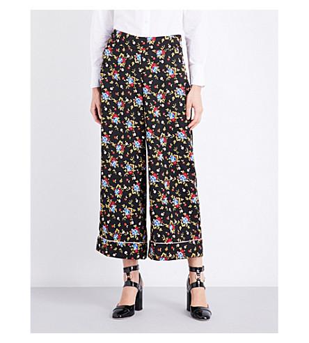 VIVETTA Bangui floral satin trousers (Multi+black+yellow