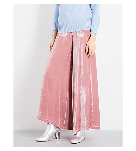 VIVETTA Berna velvet trousers (Rose