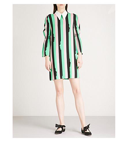 VIVETTA Amaltea striped-print crepe dress (Multi+black