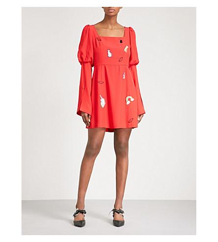 VIVETTA Naos crepe mini dress (Red