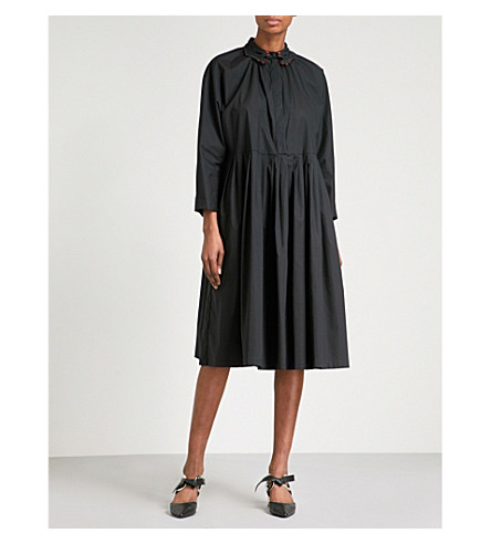 VIVETTA Pasife stretch-cotton dress (Black