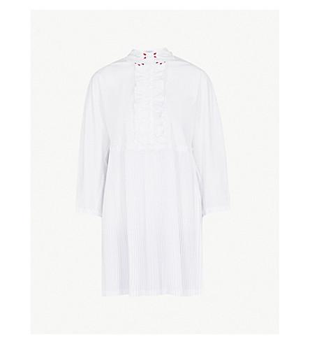 VIVETTA Febe frilled cotton dress (White