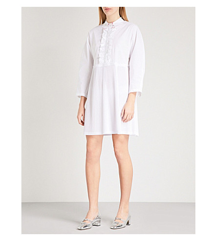 VIVETTA Febe frilled cotton dress (White