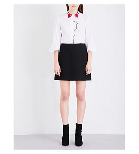 VIVETTA Striped cotton dress (Black