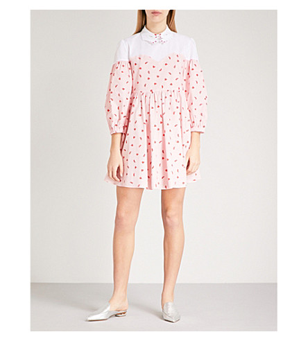 VIVETTA Marte heart and shoe-patterend cotton dress (Pink