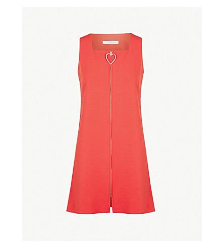 VIVETTA Orsa zip-up crepe dress (Red