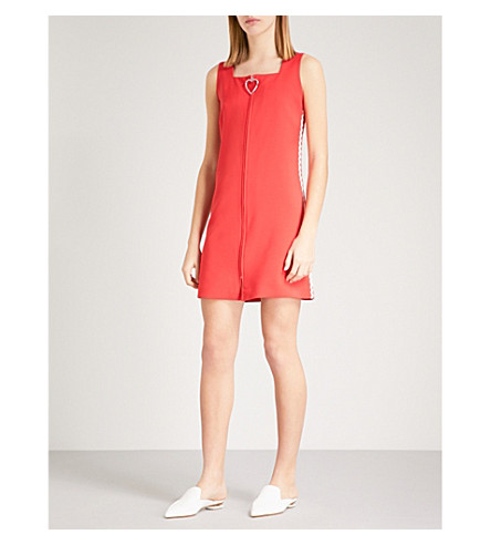 VIVETTA Orsa zip-up crepe dress (Red