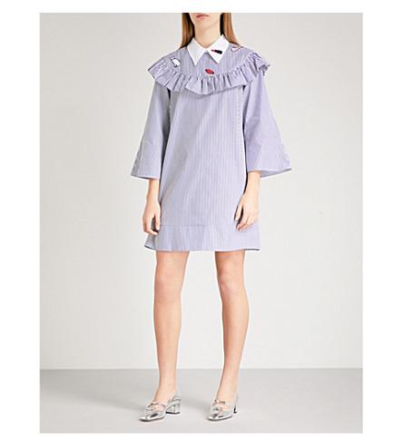 VIVETTA Orsa Maggiore striped cotton dress (Navy