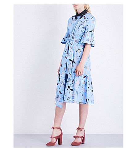 VIVETTA Montpellier printed cotton-poplin dress (Multi+blue