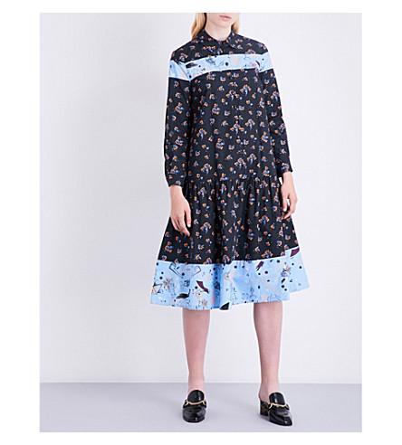 VIVETTA Tolosa cotton-poplin dress (Black+orange