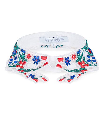 VIVETTA Brunei embroidered collar (Multi