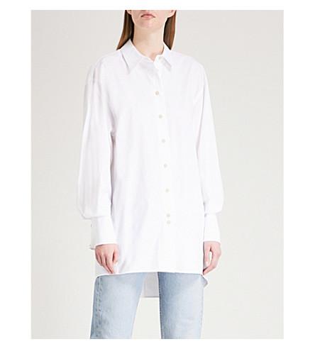 ELIZABETH AND JAMES Marion stretch-cotton shirt (White