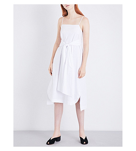 ELIZABETH AND JAMES Oak stretch-cotton dress (White