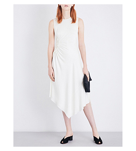 ELIZABETH AND JAMES Martha silk-blend dress (Ivory